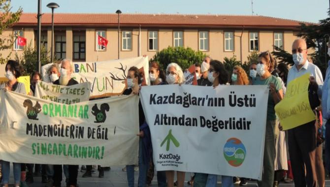 Çevre Örgütlerinden Kazdağlarındaki yaşam savunucularına destek sürüyor