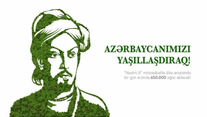NESİMİ, Azerbaycan'da bir günde 650 bin fidan dikilerek anıldı