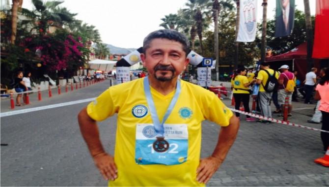 Rıdvan Şükür, Dalyan Caretta Run'da Maraton Koştu.