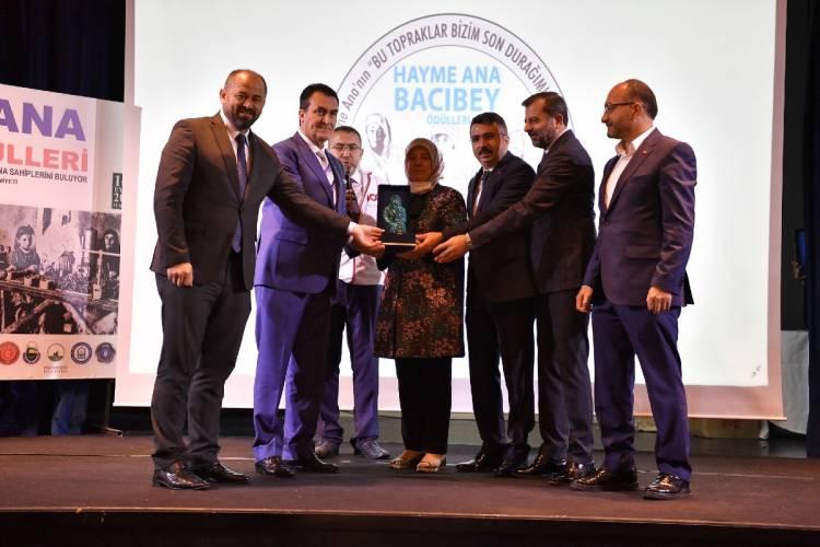 Osmangazi Belediyesi'ne Hayme Ana Bacıbey Ödülü