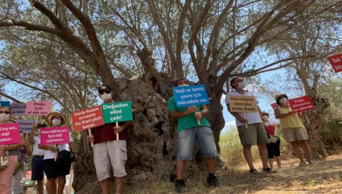 Yelki'de tarım alanına Go-Kart pisti yapılmak istenmesine karşı nöbet sürüyor