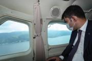 Bakan Kurum, İzmit Körfezi'ni Havadan İnceledi