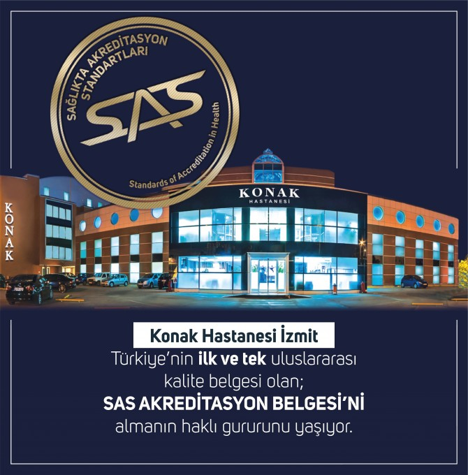 Özel KONAK Hastanesi'nin Uluslararası ''TÜSKA-SAS AKREDİTASYON'' Başarısı