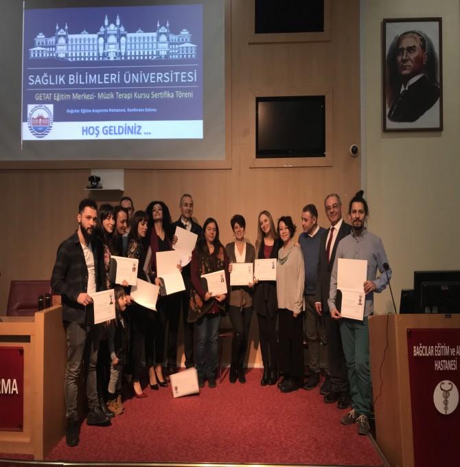 Sağlık Bilimleri Üniversitesi Müzik Terapi Kursu Sertifika Töreni