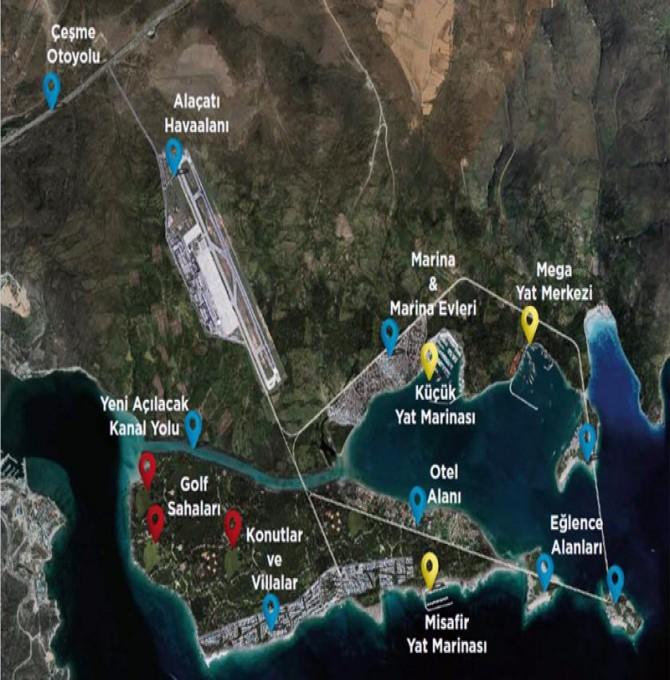 TMMOB: Çeşme Turizm Bölgesi Projesi kamu yararı taşımayan bir projedir